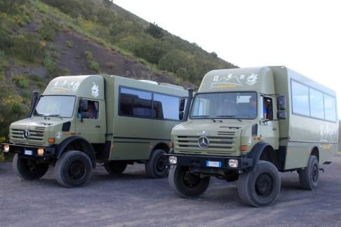 MOG trucks that took us up Mt Vesuvius