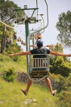 Ben and Matt on the Anacapri chairlift