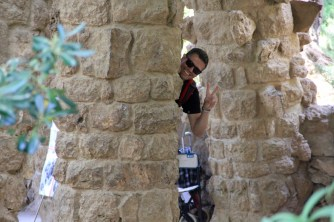 Cheeky Ben at Barcelona Park Guell