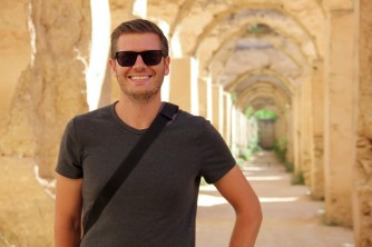 Ben at the Royal Stables in Meknes