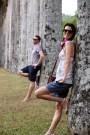 Ben and Greta practicing their model poses at the Kandy Botanical Gardens