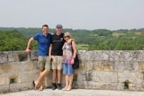 Ben with his parents in Bourdeilles
