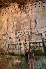 Ben at the Brantome caves