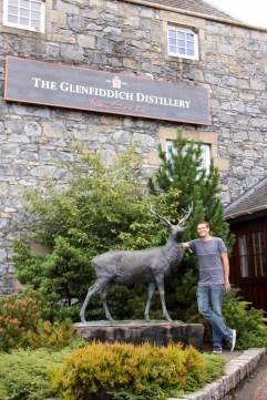 Ben outside the Glenfiddich distillery