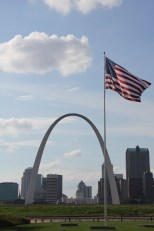 St Louis - view of downtown and the arch