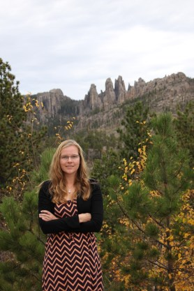 Anna in Custer State Park (at the Cathedral Spires)