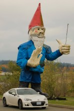 Vancouver Island ... we weren't sure what this giant gnome by Triple O's was all about - but we thought it deserved a picture