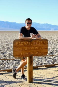 Lowest point in North America at Death Valley National Park