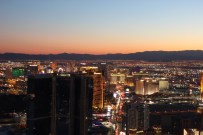 Sunset view of the Las Vegas Strip from the Stratosphere