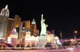 Night shot of the New York New York hotel in Las Vegas