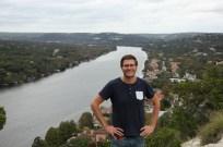 Ben at the Mount Bonnell lookout, Austin, Texas