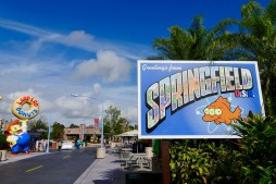 The Simpsons section at Universal Studios Orlando, Florida