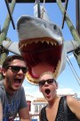 Selfie with the shark from Jaws, Universal Studios Orlando, Florida