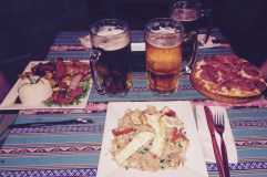 Meal of the week (traditional Peruvian dishes and a pizza)