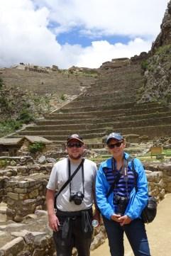 Matt and Anna at Ollantaytambo, Peru