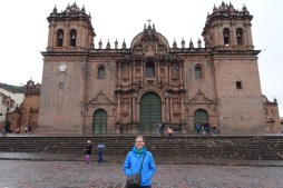 Anna at the Plaza de Armas in Cuzco, Peru