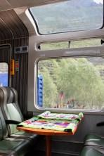 The Vistadome train from Ollantaytambo to Machu Picchu, Peru