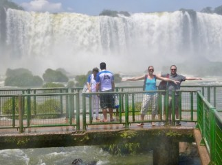 Anna and Matt at Iguazu Falls, Brazil