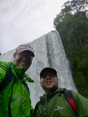 Ben and Matt at Iguazu Falls, Argentina