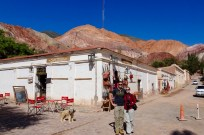 Purmamarca, Argentina - with view of the 'Hill of Seven Colours' behind us