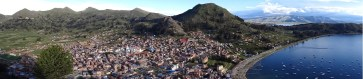 View from the top of the hill (Cerro Calvario) in Copacabana, Bolivia