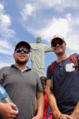 Matt and Ben at the Christ the Redeemer statue, Rio de Janeiro