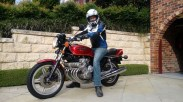 Ben finally back on a motorcycle in Sydney, Australia