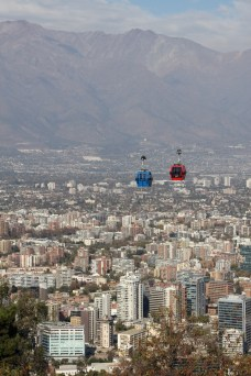 Cable car over Santiago, Chile