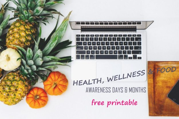health-wellness-food-related -awareness days-pinnable