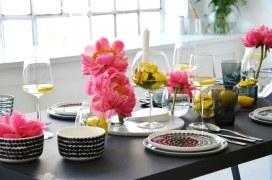 Tischdeko beim Schoener Wohnen-Workshop-annablogie