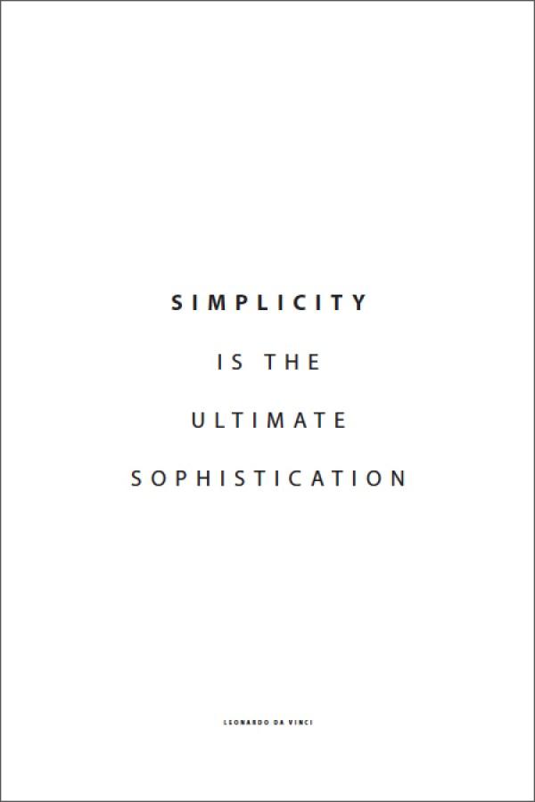 Minimalist Typography Quote Poster