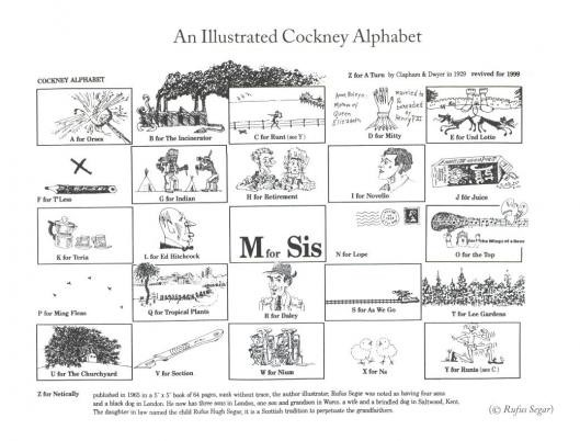 Cockney Alphabet
