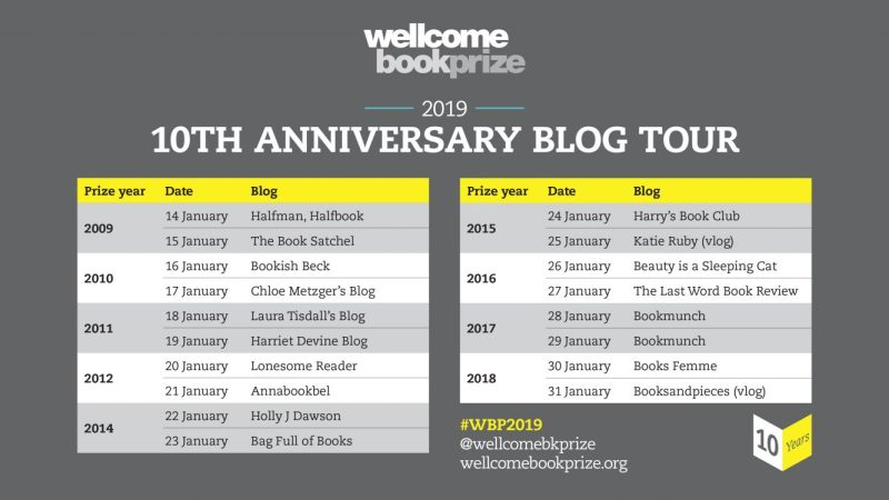 Wellcome Book Prize 10th Anniversary Blog Tour