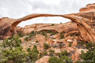 Landscape Arch (longest natural arch in the world?) from the Devils Garden Trailhead