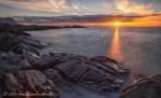 Gimsøya at sunset in Lofoten Islands, Norway