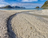 Haukland Beach in Lofoten Islands, Norway