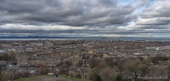 View from Calton Hill towards Leith waterfront