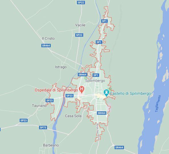 Map of Spilimbergo