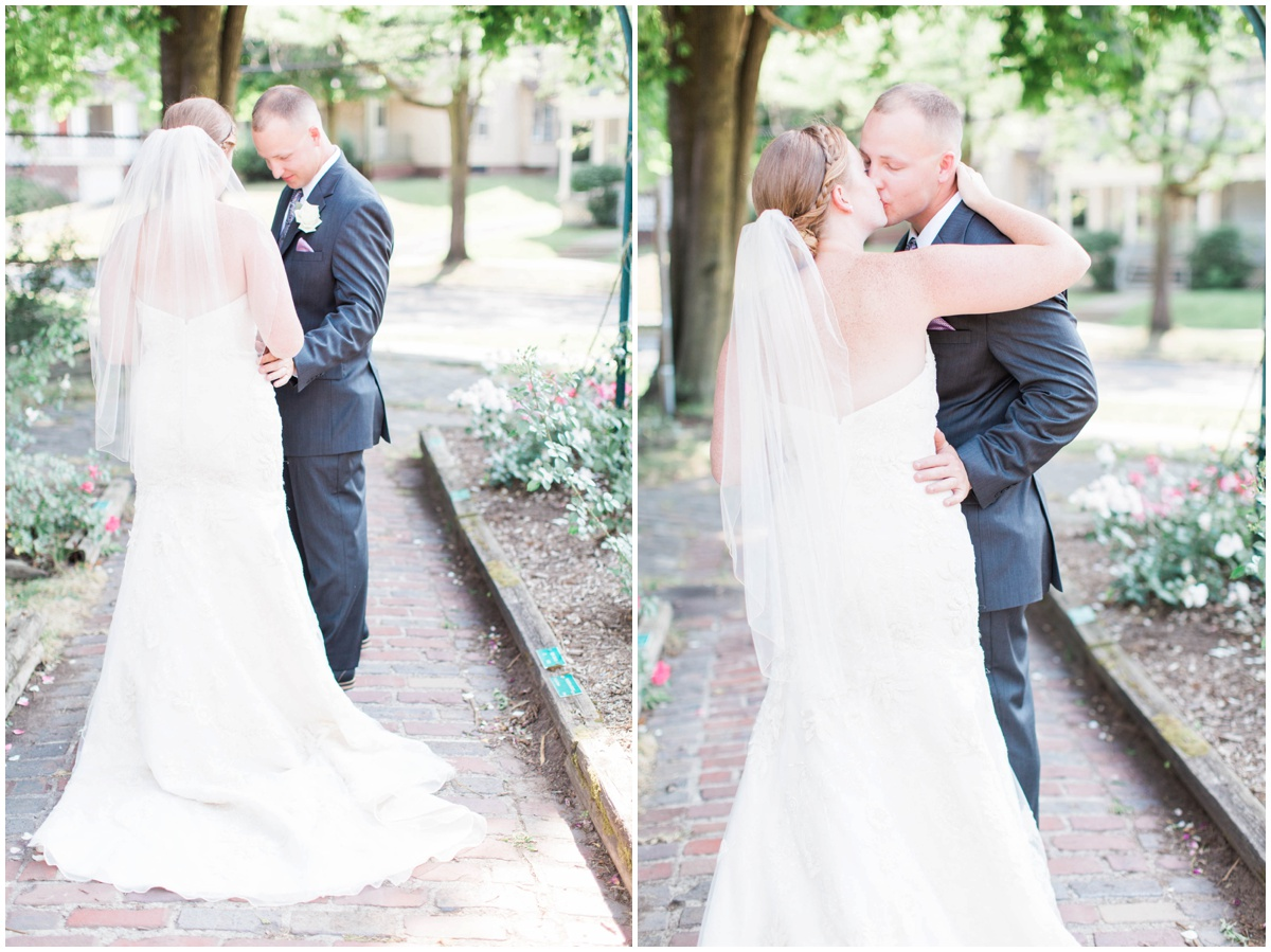 Beautiful rose garden wedding in syracuse ny  Anna Elizabeth Photography