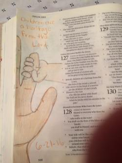 I LOVED doing this one! I can't wait until my baby's little hand grasps my finger! Psalme 127:3.