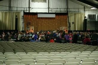 The venue, pre-ish the massive amounts of people.