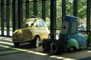 Luigi and Guido, from Cars.