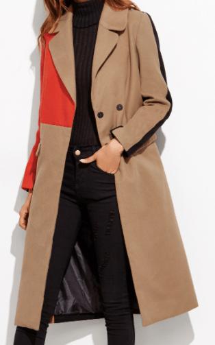 Manteau multicouleur