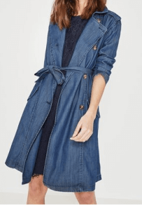 trench en denim bleu