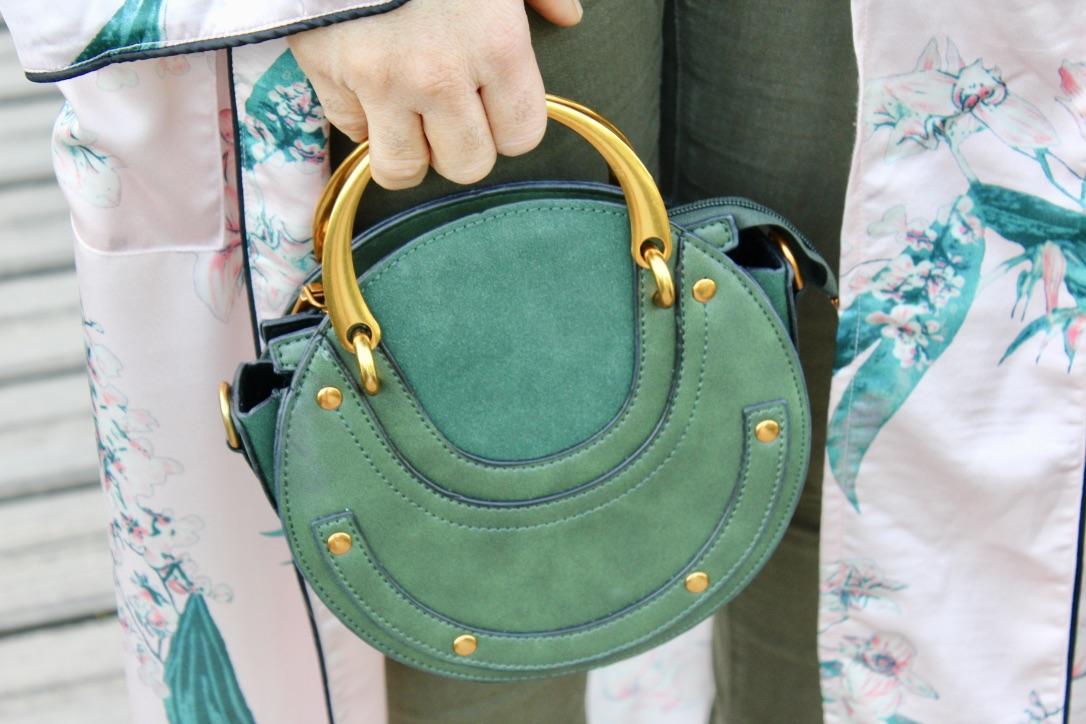 sac à main vert kaki