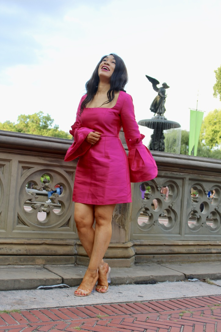 inspiration look glamour robe fuchsia