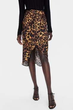 jupe imprimé léopard zara