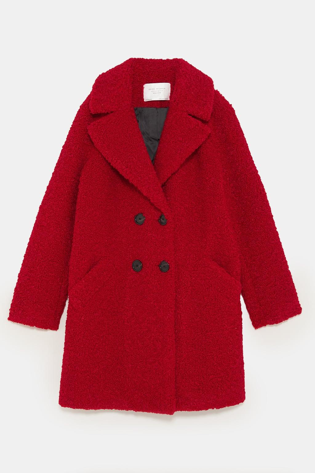 manteau effet mouton Zara