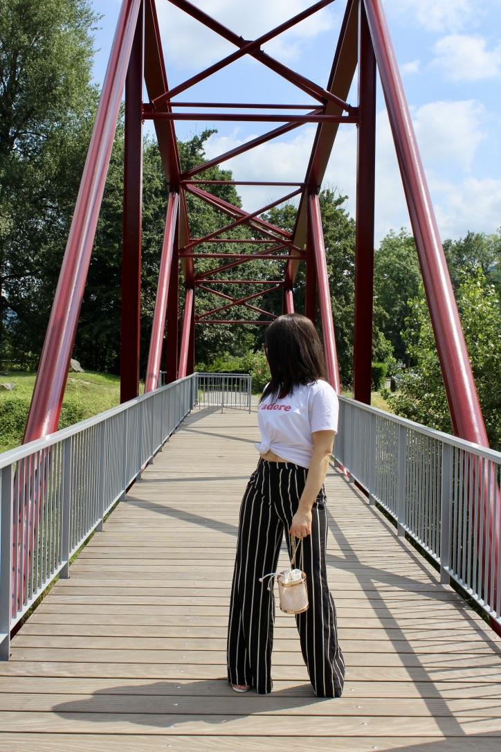 pantalon large rayures noir et blanc blog