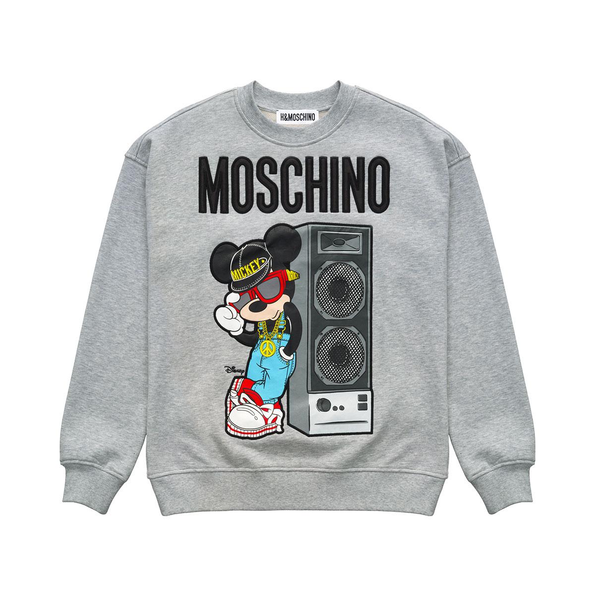 sweat gris MOSCHINO x H&M